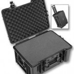 Large waterproof abs case with wheels